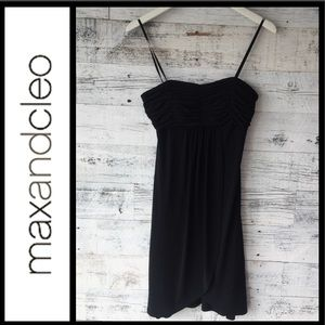 Ruched Black Cocktail Dress